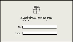 Black and Gray Minimal Gift Tag Gift Card