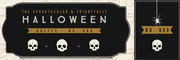 Black, White and Gold, Dark, Scary, Halloween Party Raffle Tiicket Festa di Halloween