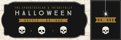 Black, White and Gold, Dark, Scary, Halloween Party Raffle Tiicket Halloween Raffle Ticket