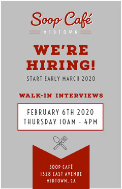 Grey and Claret Shop Cafe Diner Hiring Job Poster Job Poster