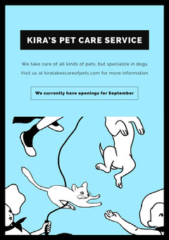 KIRA'S PET CARE SERVICE Dog Flyer