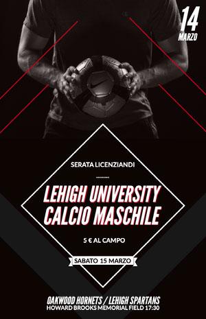 LEHIGH UNIVERSITY<BR>CALCIO MASCHILE<BR> Locandina
