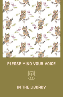 please mind your voice  School Posters