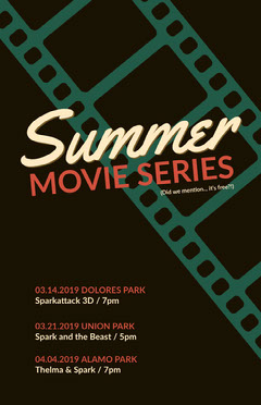 Summer Movie Show Event Poster Summer