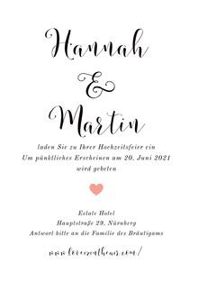 white minimal wedding cards Hochzeitsdankeskarten
