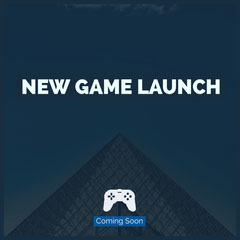 Blue and White New Game Launch Instagram Graphic Launch