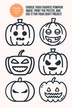Halloween Pumpkin Paper Craft Poster Crafts