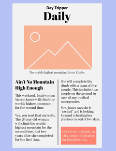 Pastel Colored Hiking Newsletter Mountains