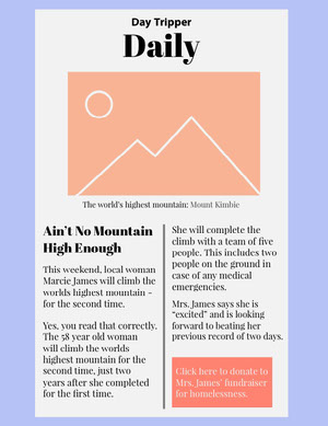 Pastel Colored Hiking Newsletter Newsletter