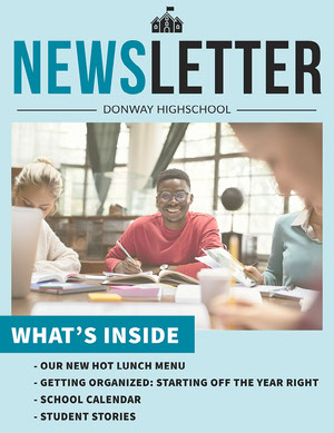 Blue Student Image Simple Layout Newsletter Newsletter