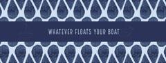 Blue Slang Saying Facebook Profile Cover Boats