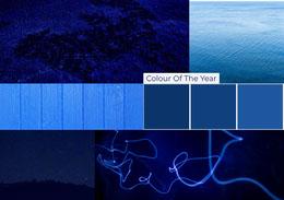 Blue Color Mood Board with Collage Colagem de fotos