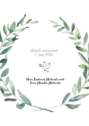 dove wedding announcements  Hochzeitsanzeigen