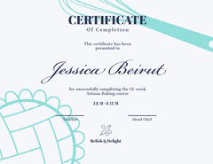 Baking Certificate Cooking