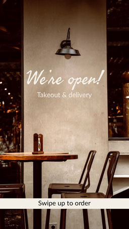 Clean Photo and Text Restaurant Opening Announcement