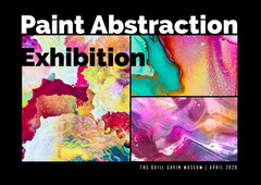 Multicolored Abstract Art Exhibition Ad Art Exhibition