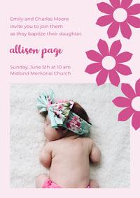 allison page  Convite de batizado