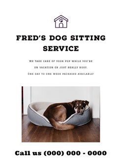 Fred's Dog Sitting Service Dog Flyer