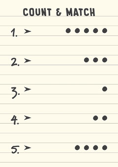 Yellow Page Count and Match The Numbers and Dots A4 Worksheet  Teacher