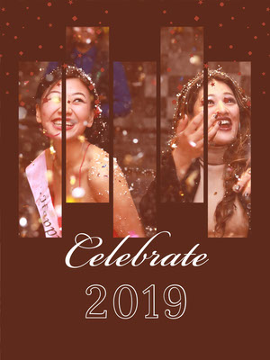Brown and White Celebration Card Happy New Year