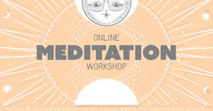 Orange and Grey Online Meditation Workshop Facebook Post Social Media Flyer