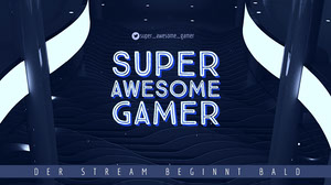 super awesome gamer twitch banner  Banner