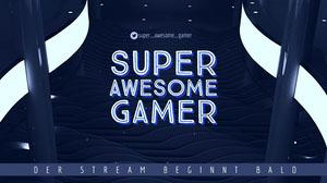 super awesome gamer twitch banner  Facebook-Titelbild