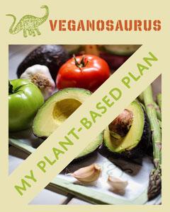 Green Veganosaurus Vegan Plant Based Instagram Portrait  Vegan