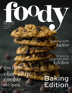 Foody Magazine Cover Cooking