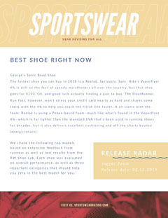 Yellow Sportswear Review Newsletter Graphic Shoes