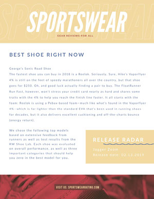 Yellow Sportswear Review Newsletter Graphic Good Luck Card