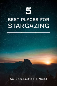 White and Grey Sunset 5 Best Places for Stargazing Pinterest Post Galaxy