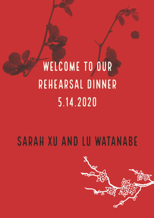 Red and Black Rehearsal Dinner Invitation Rehearsal Invitation