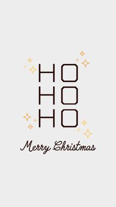 Black & Grey Minimal Christmas Message   Christmas