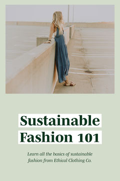 Sustainable Fashion 101 Simple Minimal Graphic Earth