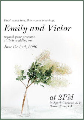 Emily and Victor Save the date-kort