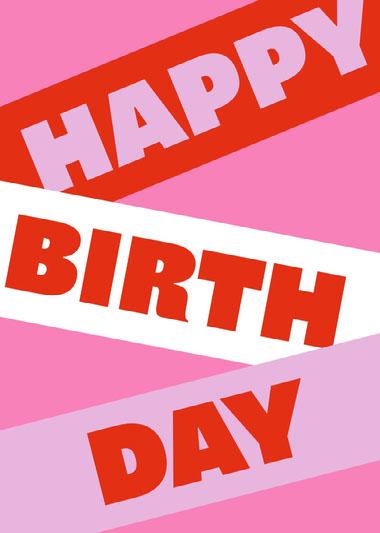 Happy Birthday Banner Card COVID-19-Geburtstagskarten