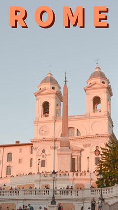 Rome Italy Travel Snapchat Story with Landmark Church Italy