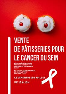 bake sale event poster  Affiche
