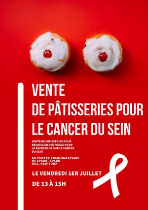 bake sale event poster  Affiche événementielle