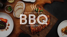 Dark, Warm Toned BBQ Restaurant Ad Facebook Banner BBQ Menu