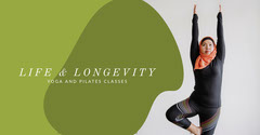 Green and White Yoga Class Facebook Banner Gym