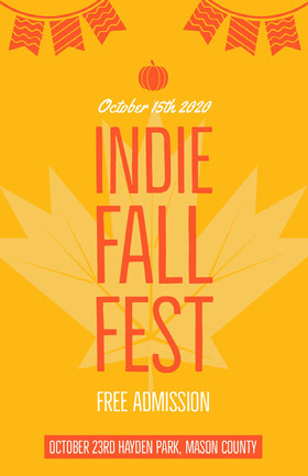 INDIE FALL FEST Folleto de invitación a evento
