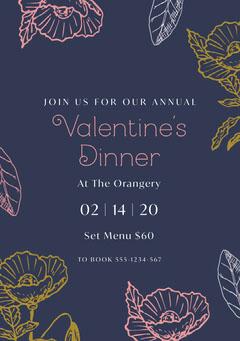 Valentine's Dinner Dinner Menu