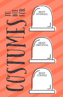 Gravestone Halloween Party Costume Card Halloween Costume Contest