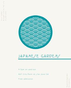 Japanese Garden Instagram Portrait Ad Garden