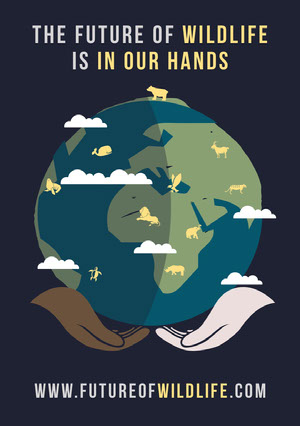 Future Wildlife Flyer Poster per una campagna