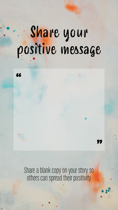 Positive Message Instagram Story Positive Thought