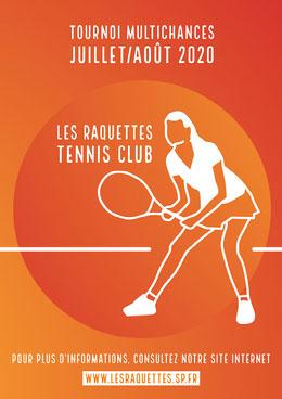 Orange Gradient Circle Tennis Competition Poster A4  Prospectus