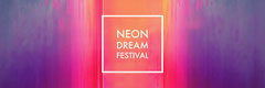 Colorful Neon Dream Festival Banner Neon